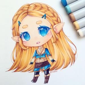 Zelda (Breath of the Wild) [Copic Markers]