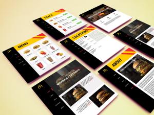 McDonalds site concept - personal project