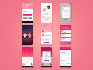 TOOPink - mobile app design